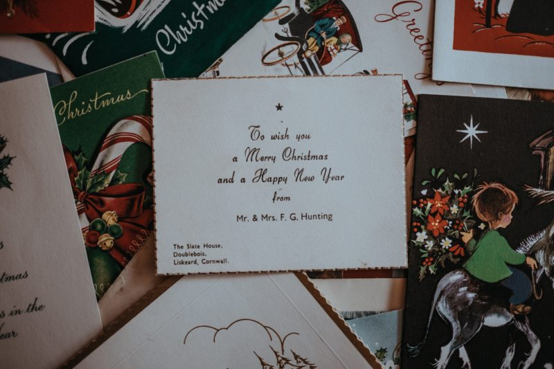 Christmas card services with your own dedicated Personal Assistant at Christmas