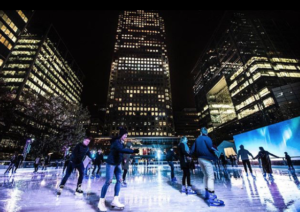 Canary Wharf Ice Skating