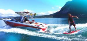 waterskiing Lake Annecy