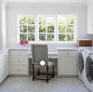 Multifunctional Space: an office and laundry room combo
